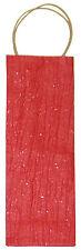 Flaschenträger Geschenkverpackung rot aus handgeschöpften Papier 12,5 x 36 x 9cm