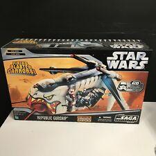 Republic Gunship Cartoon Network 2006 STAR WARS Saga Collection MIB