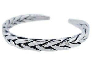 Men's Heavy 925 Sterling Silver Braided Bangle for Men