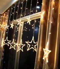 Star Lights 12 Stars 138 LEDs Curtain String Lights Stars Party Christmas Light
