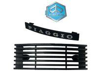 Vespa PX150 P200 LML Black Grill + Piaggio Logo Badge Emblem & Fender Crest CDN