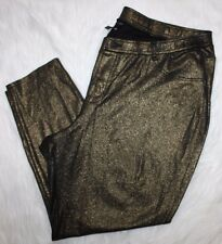 LANE BRYANT NEW Gold Sparkle Pull-On Stretch Skinny Pants Leggings 28