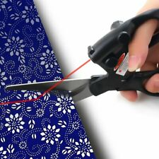 Laser Guided Fabric Scissors Trimmer Sewing Cut Straight Fast Paper Craft ZT