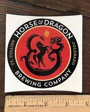 HORSE & DRAGON FORT COLLINS BREWING BREWERY BEER STICKER Colorado Brew Sad Panda