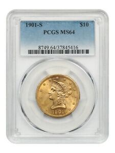 1901-S $10 PCGS MS64 - Liberty Eagle - Gold Coin