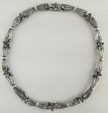 """JOSE LUIS FLORES Modernist Sterling 15.5"""" Necklace Circa 1960's, Taxco, Signed"""