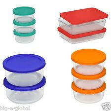 Pyrex 20-Piece Kitchen Glass Food Storage Set Containers Bakeware Bowls with Lid