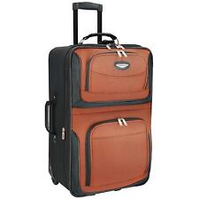 Travelers Choice Travel Select Amsterdam 25-In Expandable Rolling Upright Orange