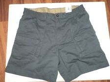 Mens Outdoor Life 100 % Cotton Grey Shorts With Side Elastic Waist And Pockets