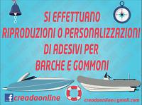 ADESIVI PER BARCHE E GOMMONI RIPRODOTTI O PERSONALIZZATI NAUTICA ADESIVO ITALIA