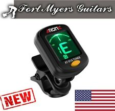 Chromatic LCD DIGITAL Clip On Electric Tuner F Bass Guitar Ukulele Violin cello