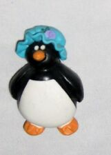 "Black White 2"" Penguin Wearing a Blue Bonnet Hat Magnet Figurine Ornament"