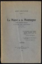 COUTAGNE, LA MUSE À LA MONTAGNE, ANTHOLOGIE POÉTIQUE À L'USAGE DES ALPINISTES