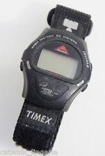 TIMEX TRIATHLON T62951 INDIGLO WATCH BLACK VELCRO BAND 8 LAP MEMORY