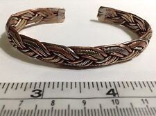 Copper, Brass + White Metal Medicine Cuff Bracelet. Free Shipping in USA !