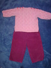 2 pc lot H&M h & M pants sz 1-1.5 y and no brand chunky knit winter sweater