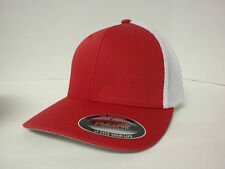 FLEXFIT TRUCKER MESH CAP PLAIN BLANK BASEBALL HAT FLEX FIT 6511 CURVED FITTED