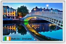 DUBLIN - JUMBO FRIDGE MAGNET - IRELAND EIRE REPUBLIC IRISH TRICOLOUR TRAVEL
