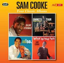 SAM COOKE-4 CLASSIC ALBUMS:SAM COOKE/COOKE'S TOUR/HITS OF 50S/TWISTIN' 2 CD NEU