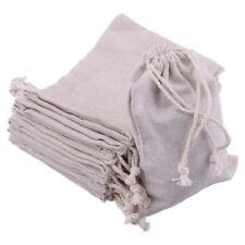10pcs 15 x 10CM Linen Burlap Drawstring Jute Pouch Gift Bags Wedding Favor Sack