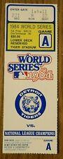 1984 World Series Detroit Tigers Ticket - Game A San Diego Padres Tiger Stadium