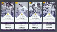 2016 NBA LOS ANGELES LAKERS FIRST ROUND PLAYOFFS FULL TICKETS - KOBE BRYANT