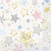 TWINKLE LITTLE STAR NAPKINS - Baby Shower, Unisex, Tableware, Party Supplies