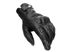 New Black Leather Knuckle Protection Motorbike Motorcycle Winter Gloves Racing