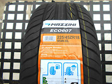"""4 NEW TIRES 225 45 18 MAZZINI ECO607 PERFORMANCE M&S 225/45ZR18"""" 95W 45K RATED"""