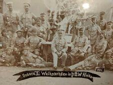 Wwi Dswa Deutsches Südwest Afrika Large Troop Christmas 1905 Framed Photo