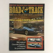 Road & Track Magazine July 1968 Fiat 124 Sport Coupe & Convertible, No Label VG