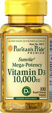 Puritans Pride Vitamin D3 10000 IU 100 Count