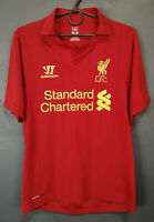 MENS WARRIOR FC LIVERPOOL 2012/2013 SOCCER FOOTBALL SHIRT JERSEY CAMISETA SIZE S