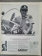 1965 Mony Mutual life insurance of NY California police officer motorcycle ad