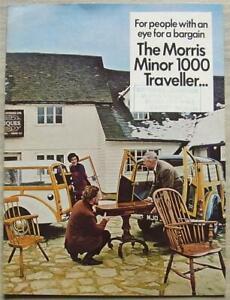 MORRIS MINOR 1000 SALOON & TRAVELLER Car Sales Brochure c1970 #2722