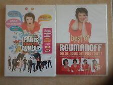 17215/LOT 2 DVD ANNE ROUMANOFF CRISE DE RIRE + BEF ON NE NOUS DIT PAS TOUT NEUF
