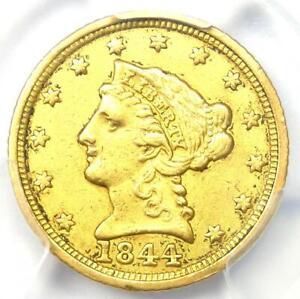 1844-C Liberty Gold Quarter Eagle $2.50 - PCGS XF Details - Rare Charlotte Coin!