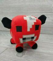 "Minecraft Red Bull Cow Plush Mojang 5.5"" Plush Stuffed Animal Official Minecraft"