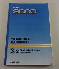 Workshop Manual Saab 9000 Electric System Schematics Year 1985, 86
