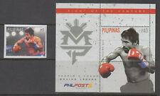 Philippine Stamps 2015 Manny Pacquiao Block of 4 & SS Complete MNH