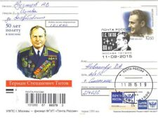 Russia 2015 German Titov space  Post card  Registered mail
