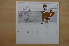 "ROBERT PALMER AUTOGRAPHEs signed LP-Cover ""Pride"" Vinyle"