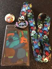 Stitch & Scrump Lanyard, Stitch Ohana Button Pin.