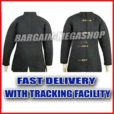 Medieval thick padded Black color Gambeson coat Aketon armor jacket SCA LARP a3