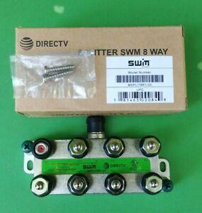 (5 PCS) DirecTV 8 Way SWM Splitter 2-2150 MHz Green MSPLIT8R1-03