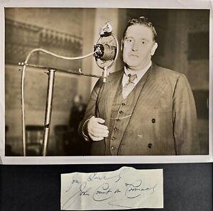 JOHN McCORMACK  IRISH TENOR  1884 - 1945 RARE  AUTOGRAPH WITH 'COUNT' & PHOTO