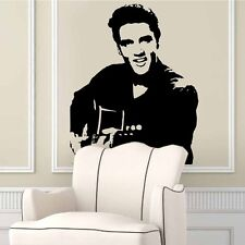 DIY Elvis Presley Playing Guitar Art Wall Stickers Wall Decals Home Decor Mural
