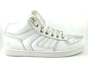 Gallaz Fate Mid Skate Sneaker Shoes White/Silver US 6, UK 3.5, EUR 36, 23 cm