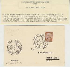 MARITIME 1935 HAMBURG-SOUTH AMERICA LINE::M/S MONTE SARMIENTO pc with special cd