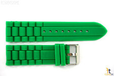20mm Fits Fossil Green Silicon Rubber Watch BAND Strap
